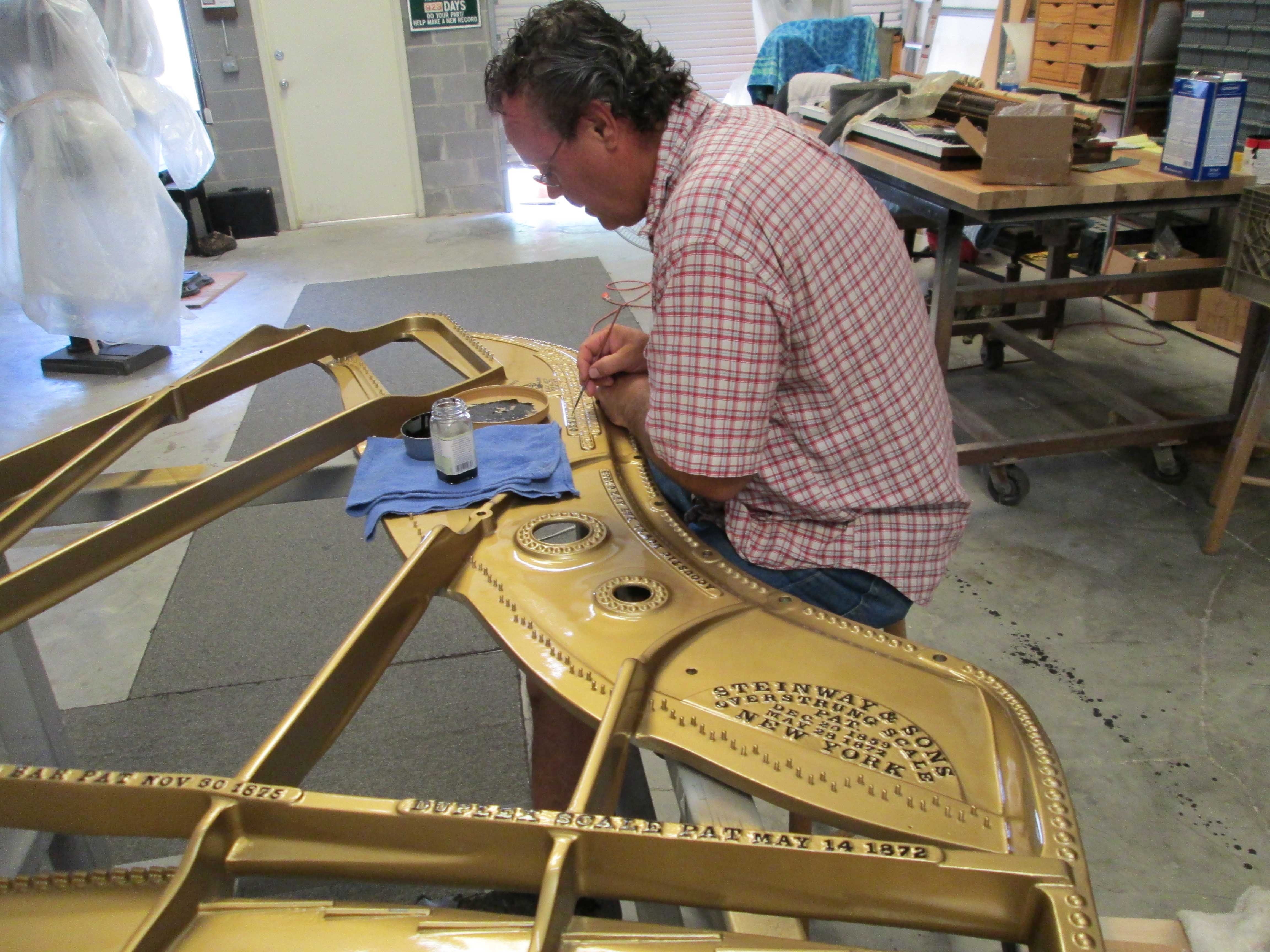 Steinway A2 Plate Lettering